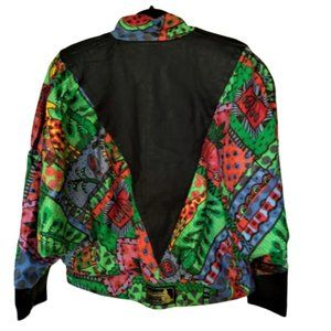 Vintage 80s multi-color oversized jacket